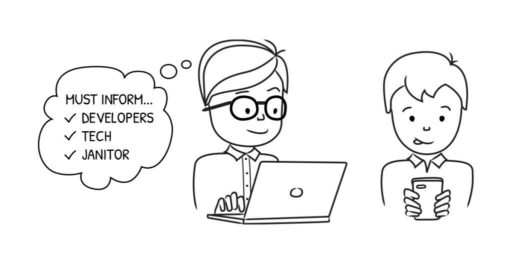 usability testing - inform the team