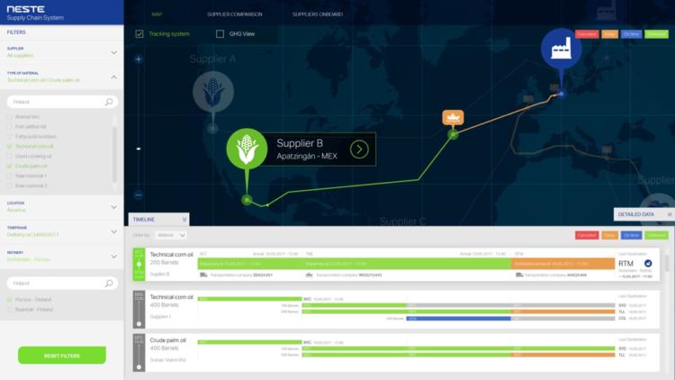 Neste Hackathon tracking system